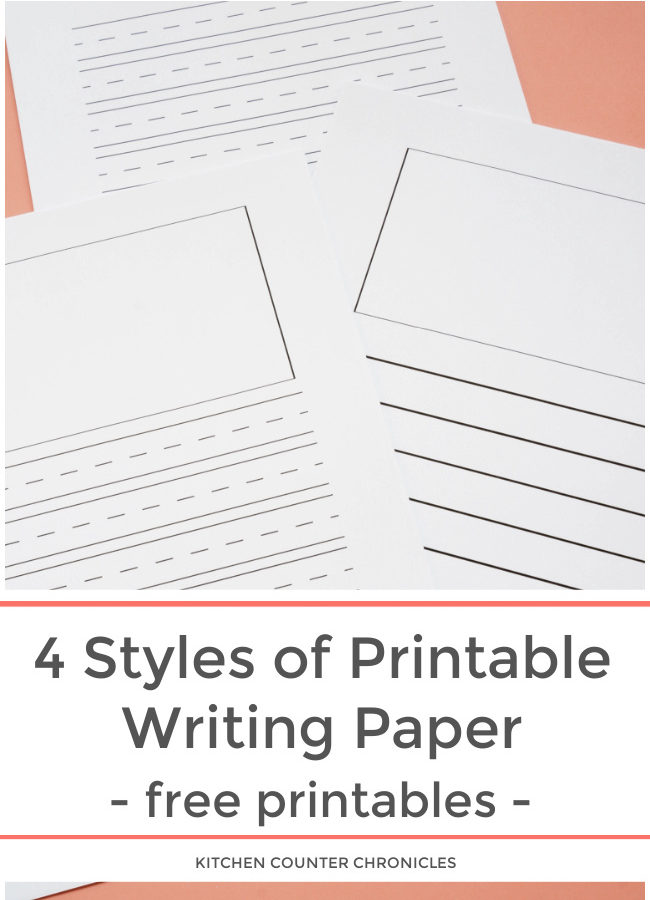 printable writing paper for kids featured image