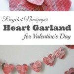Newspaper Heart Garland for Valentine's Day