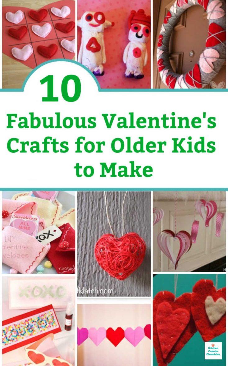 Valentine's Crafts for Older Kids to Make