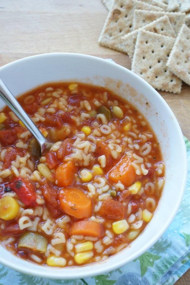 Vegetable Alphabet Soup