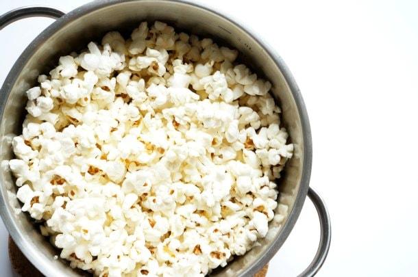 popcorn popped in pot