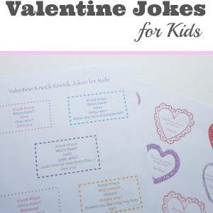 Valentine jokes for Kids - free printable
