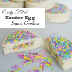 Candy Filled Easter Egg Cookie