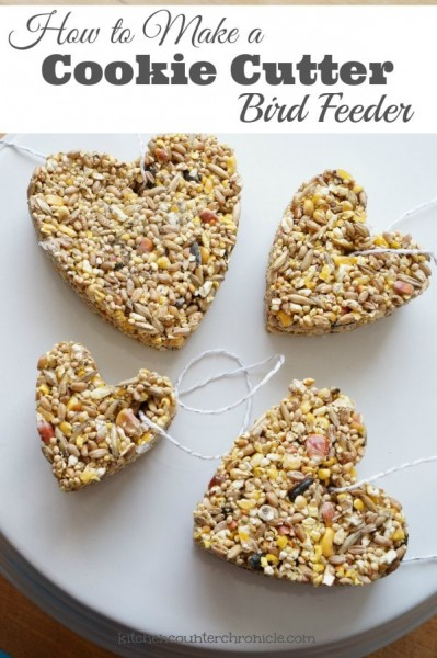 How to make a cookie cutter bird feeder