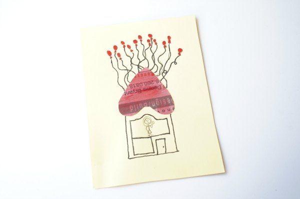 newspaper heart valentine card balloon house