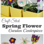Craft Stick Flower Garden Centerpiece