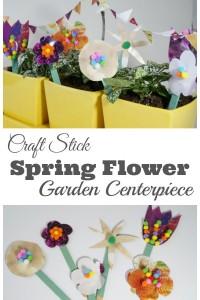 Craft Stick Flower Garden Centerpiece