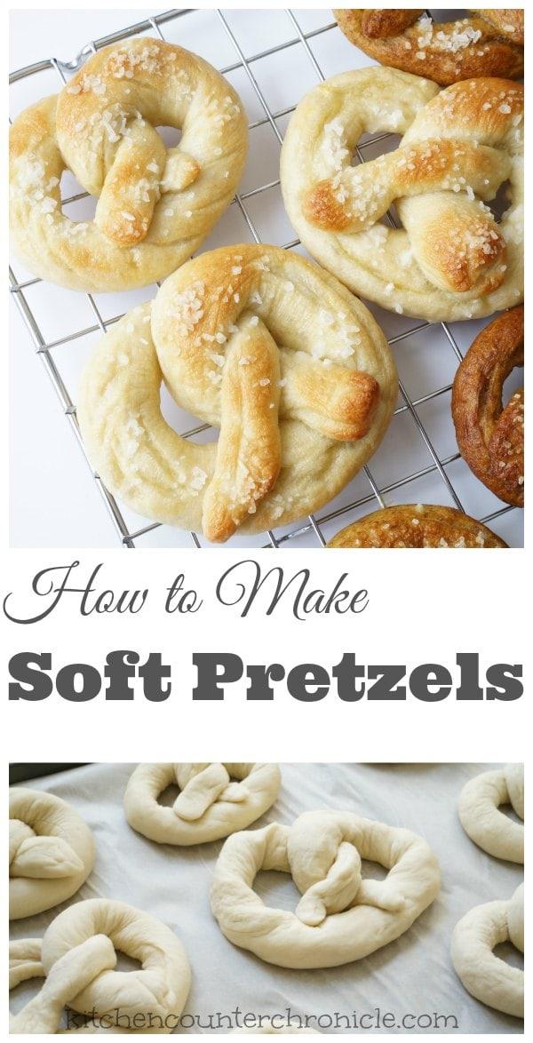 How to make soft pretzels