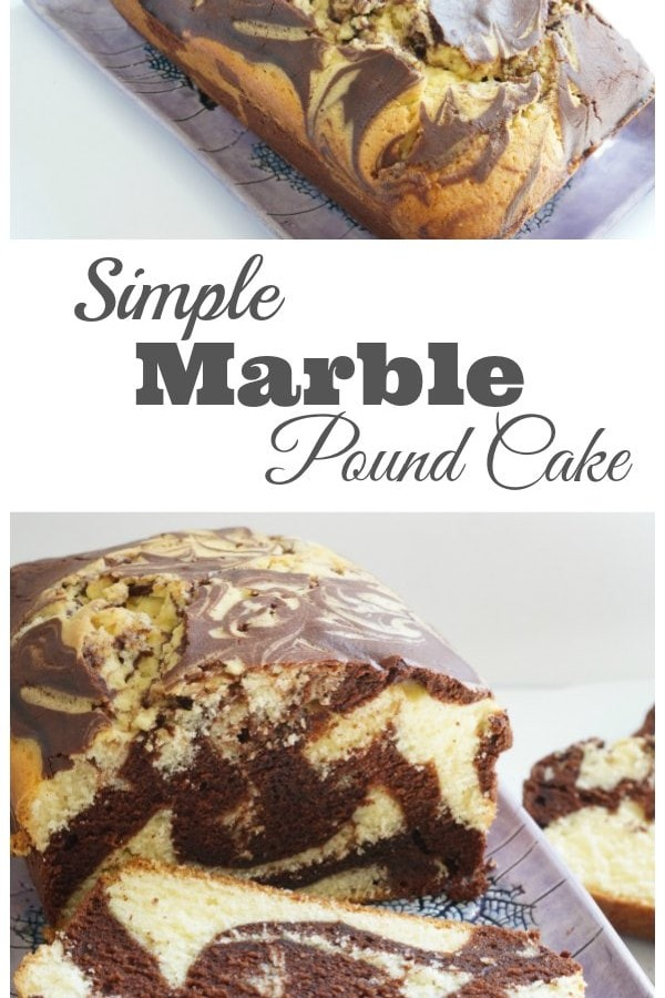 Simple Marble Pound Cake Recipe