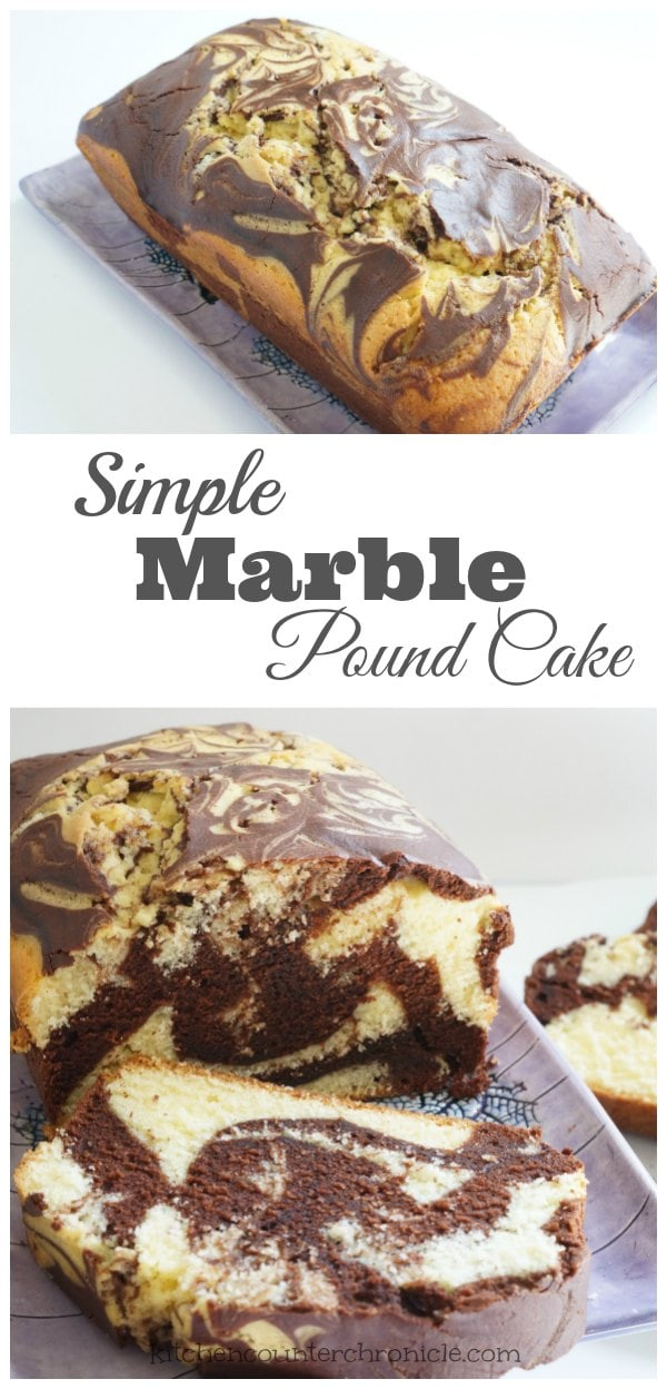 Simple Marble Pound Cake Recipe - Chocolate or vanilla? You don't need to pick a favourite with this delicious recipe for marble pound cake - so simple the kids can help make it. | Cake Recipe | Chocolate Cake Recipe | Kid Made Recipe |