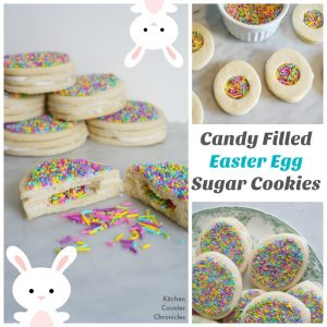 candy filled easter egg sugar cookies