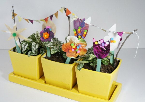 craft stick flower spring garden