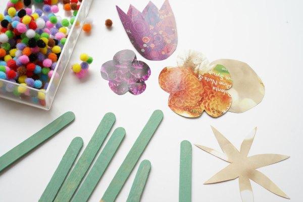 craft stick flower supplies