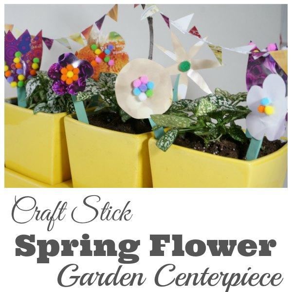craft stick spring flower garden