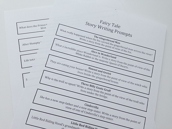 fairy tale story writing prompts in a jar