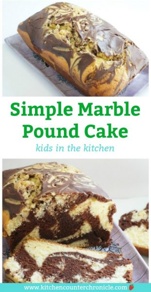 simple marble pound cake