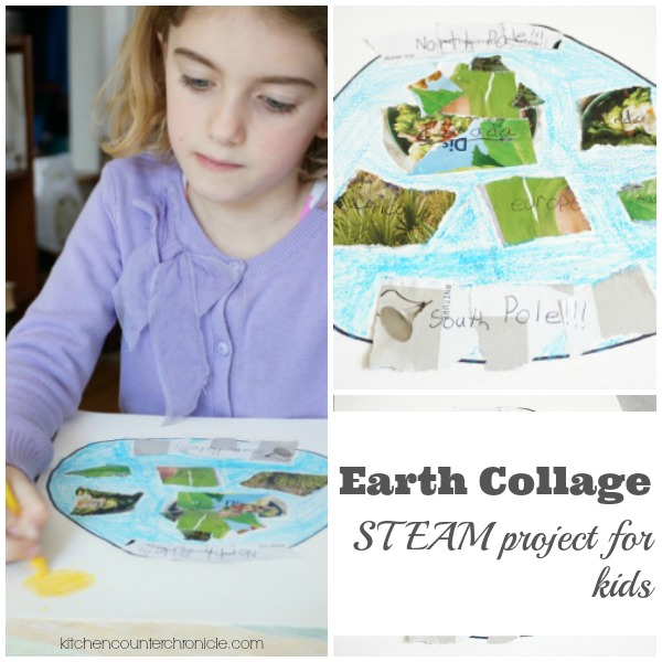 Earth Collage Art STEAM for Kids