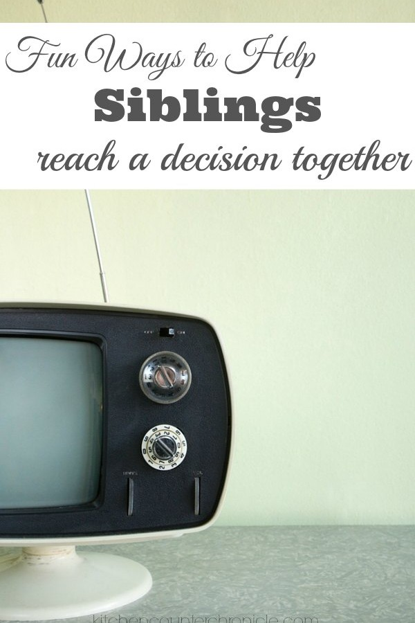 Fun Ways to Help Siblings Reach a Decision Together