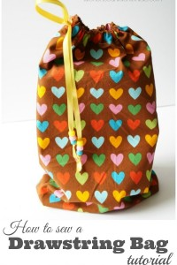 How to Sew a Drawstring Bag Tutorial