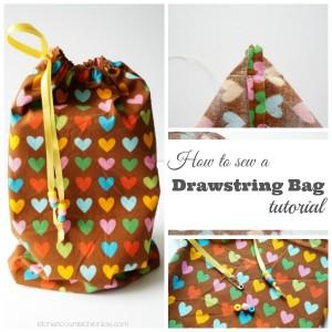 How to Sew a Drawstring Bag fb