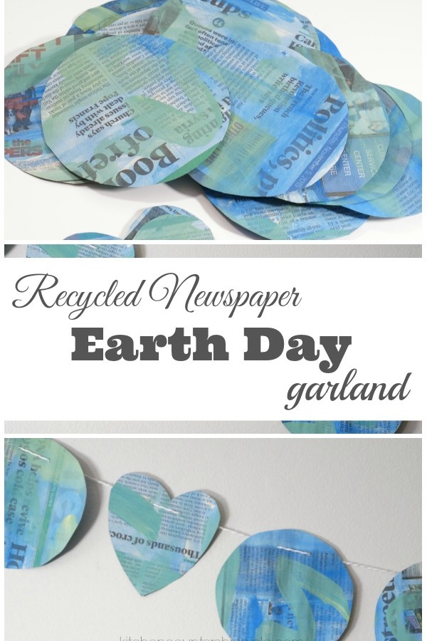 Recycled Newspaper Earth Day Garland