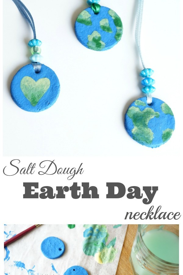 Salt Dough Earth Day Necklace Craft