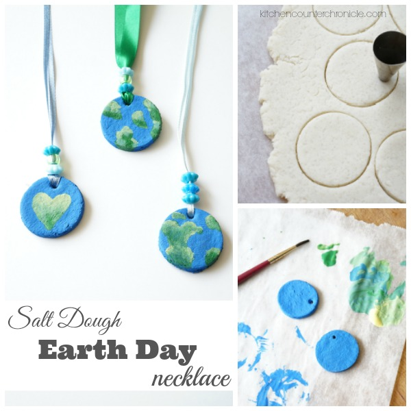 Salt Dough Earth Day Necklace fb