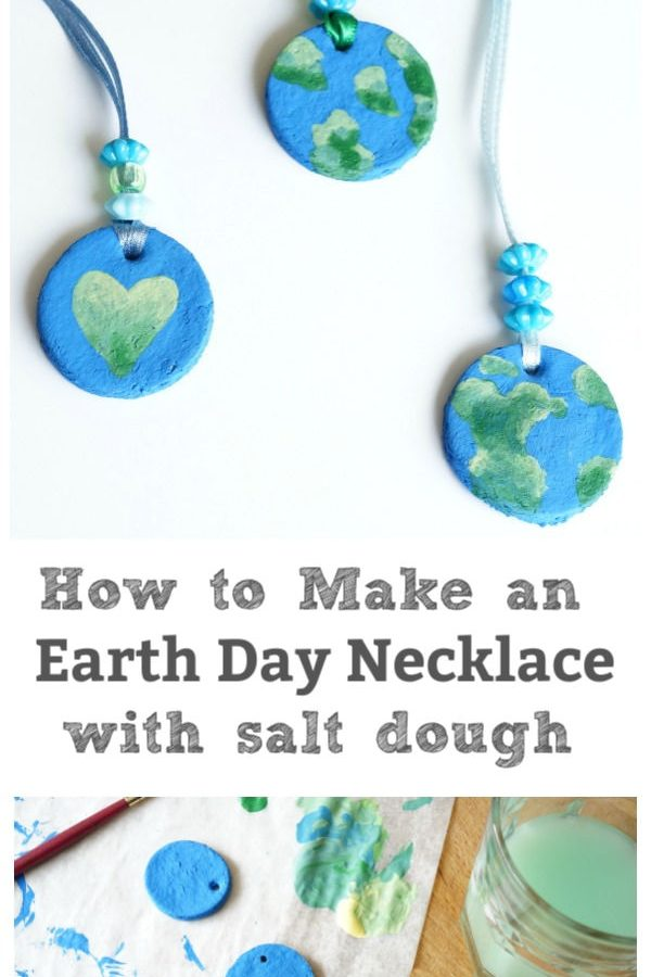 earth day necklace salt dough recipe