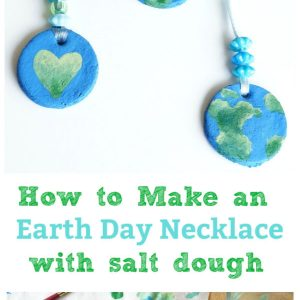 earth day necklace salt dough