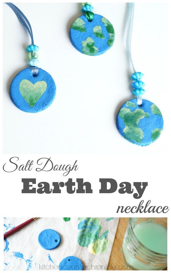 Salt dough earth day necklace salt dough earth day necklace craft aloadofball Gallery
