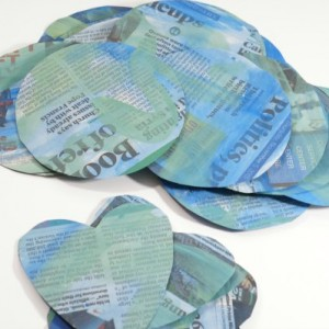 Earth Day craft recycled newspaper circles