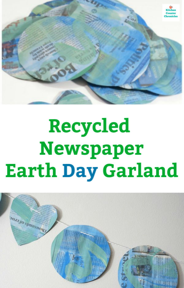 newspaper Earth Day garland