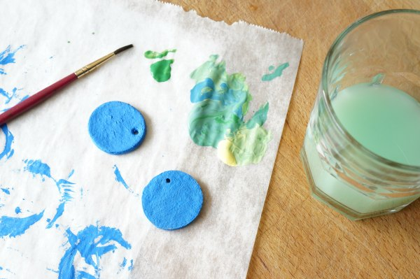 Paint with Salt Dough Earth Pendant