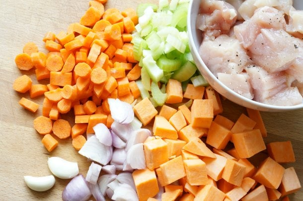Sweet Potato and Chicken Slow Cooker Soup