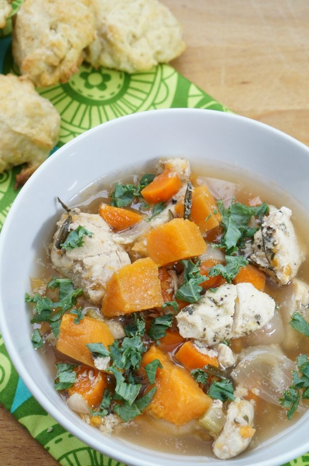 Sweet Potato and Chicken Soup