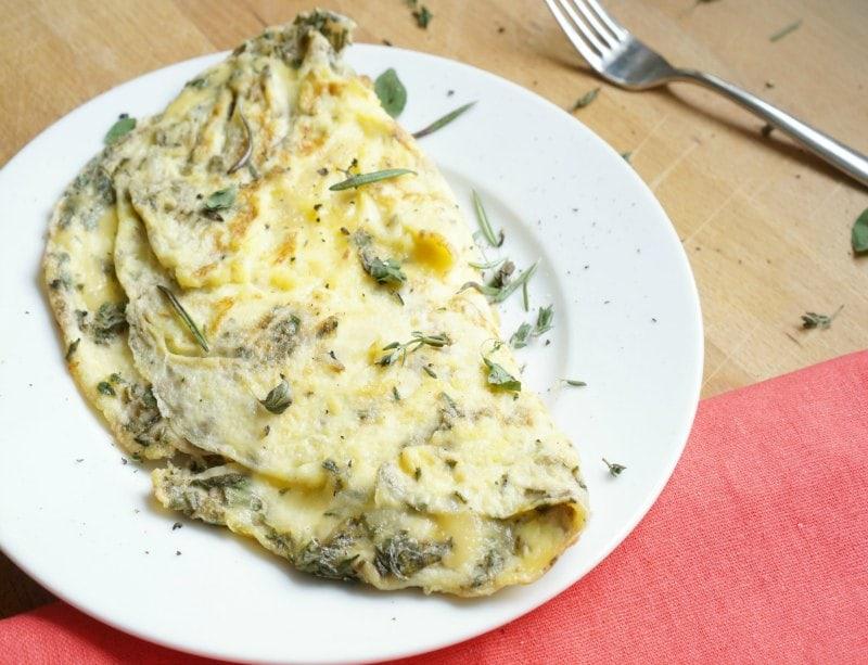 Garden Herb Omelette fb