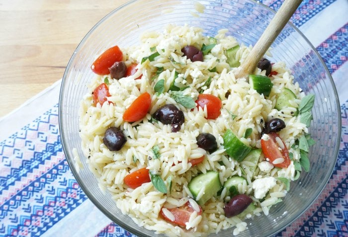 Greek Pasta Salad Family Picnic Recipe