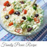 Greek Pasta Salad – Family Picnic Recipe