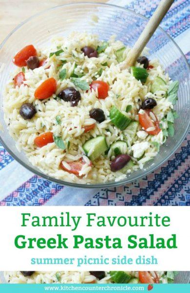 greek pasta salad - family friendly