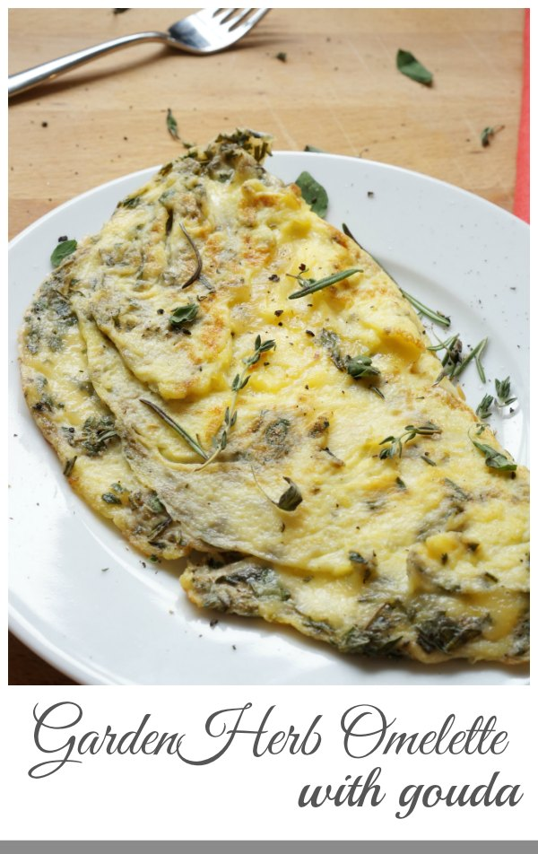 Garden Herb Omelette with Gouda