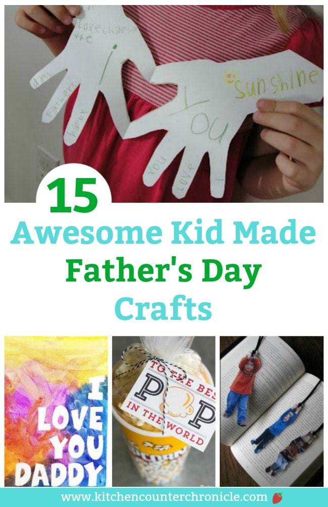 kid made father's day crafts