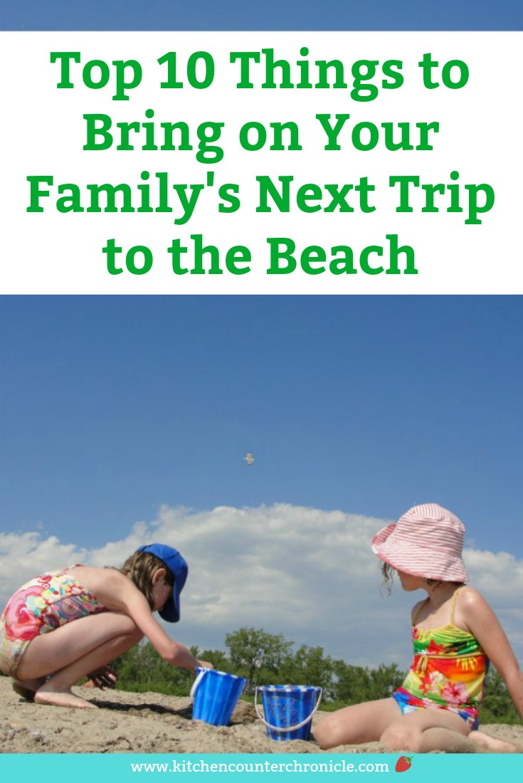 10 things to bring to the beach with kids