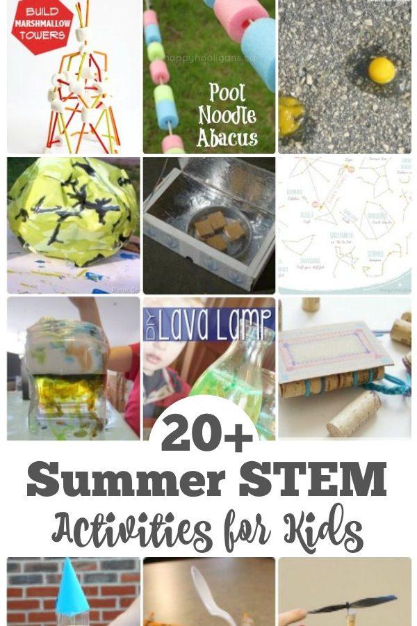 20+ Summer STEM Activities for Kids