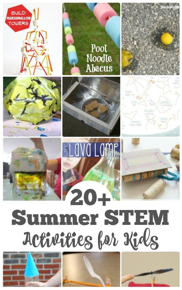 Summer STEM Activities for Kids - Have fun and keep the kids learning with these super cool Science Technology, Engineering and Math activities for kids. | STEM for Kids | Summer Activities | Play and Learn Activities |