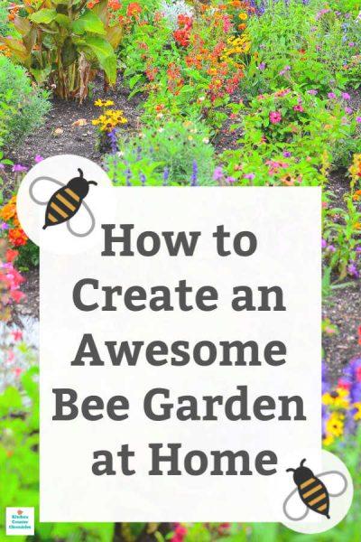 how to make a bee garden home garden