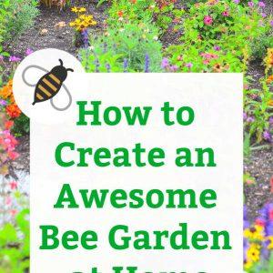 how to make a bee garden home garden pin