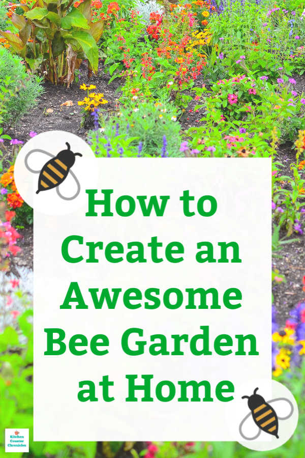 how to make a bee garden home garden pin