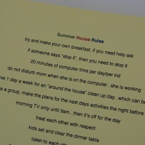 summer house rules