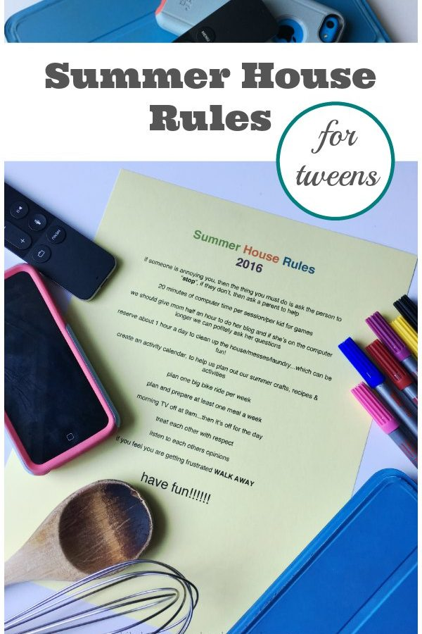 Revisiting The Summer House Rules with Tweens