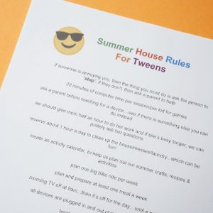 summer house rules for kids